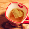 sholio: heart in a cup of tea (Heart)