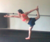 bronze_ribbons: snapshot of me in standing bow (peg bow)