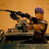 madmaxkink: Furiosa, wearing a purple flower crown. (furiosa flower crown)