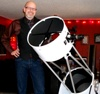 "mckitterick: Here's the 16"" Meade Lightbridge Dobsonian that I bought for myself as the prize for seeing TRANSCENDENCE make print. (Meade Lightbridge Dobsonian, telescope Chris)"