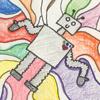 mckitterick: Thanks for the art, M'chelle! (robot joy)