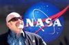 mckitterick: At NASA's Moon-rock exhibit when it came to KU. (NASA Chris, smiling Chris 2009)