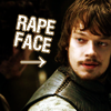 veni: ([ASoIaF] Theon's rape face)