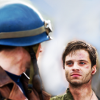 musesfool: movieverse Bucky and Steve, eyefucking (catch me now i'm falling)