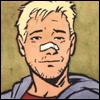 aw_hawkguy: Smiling through a broken nose. (Smile)