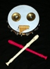 dglenn: A musical Jolly Roger using a tambourine, a pair of zills, a keychain-sized set of panpipes, and two soprano recorders (JollyRoger)