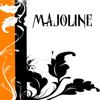 majoline: white background; black and orange stripes and black ivy (autumn majoline icon)