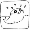 squeemu: A seal with puppy eyes and hearts by its head ([me] i can haz all the hearts?)