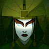 damkianna: A cap of Kyoshi from Avatar: The Last Airbender, in the Avatar State. (I would not sit passively.)