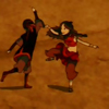 damkianna: A cap of Aang and Katara from Avatar: The Last Airbender, dancing. (It's just you and me right now.)