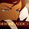 "damkianna: A cap of Korra from The Legend of Korra, with accompanying text: ""Heroine addict."" (KORRA YAY OMG.)"