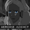 "damkianna: A cap of Yue from Avatar: The Last Airbender, with accompanying text: ""Heroine addict."" (Maybe I can give it back.)"