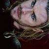 asgardsthunder: (looking up | stormy blue eyes)