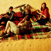 such_heights: amy, eleven, rory and river having a picnic (who: ponds)