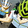 hapaxlegomenon: Teshima handing Aoyagi water bottle (T2 on bikes)