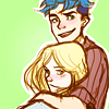 """extracolours: art by <user name=""""vviaa"""" site=""""tumblr.com""""> (VICTOIRE ► arm around)"""