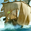 catwalksalone: The Walrus: a pirate ship in full sail (Black Sails Walrus)