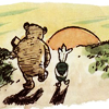 turlough: Pooh & Piglet walking into the sunset together, art by E H Shepard ((pooh) happily ever after)