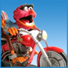 annalee: Animal the Muppet riding a motorcycle (Muppet Motorbike)