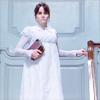 sharpiefan: Regency lady in white coming down stairs, (Anne Elliot)