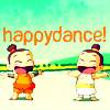 "wistfuljane: scene from avatar: the last airbender with the caption ""happydance!"" (happydance)"