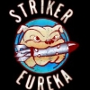 "apollymi: Striker Eureka logo, bulldog with bomb in mouth, text reads ""Striker Eureka"" (PacRim**Striker Eureka: Logo (Max))"