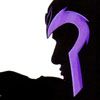 ysobel: A silhouette of Magneto, arm outstretched, with the purple rim of his helmet the only color (xmfc - magneto)