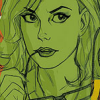 oraclegreen: Oracle (Barbara Gordon) in green light (DC Comics Oracle (Barbara Gordon))