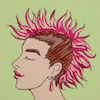 perpetualwhim: Drawing of me with a pink mohawk (default, me)