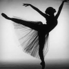 amazing_for_a_minute: Ballerina on pointe, black and white (Ballet, black and white, Dancer)