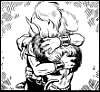 dorinda: Cutter and Skywise, believing they're about to part for good, share an intense hug. (Cutter-Skywise-angstyhug)