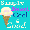 "capriuni: Vanilla icecream cone, captioned ""Simply sweet cool & good"" (vanilla)"