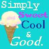 "capri0mni: Vanilla icecream cone, captioned ""Simply sweet cool & good"" (vanilla)"