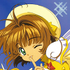 syntaxofthings: Sakura-chan from Cardcaptor Sakura smiling and winking ([CCS] Cute Sakura-chan)
