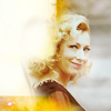 trialia: Alex Kingston as an older River Song, blonde in a black dress, smiling coquettishly over her shoulder. (who] river - smile over shoulder)