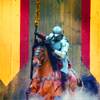 briar_pipe: knight lowering his lance to charge (Jousting)
