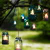 recessional: candles in jars hanging from trees (personal; lights in the window)