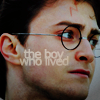 """lorax: Close up of Harry, text reading """"The Boy Who Lived"""" (HP - Harry """"Boy Who Lived"""")"""