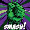 karzilla: a green fist above the word SMASH! (smash) (Default)