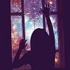 rhi: A child opening a window onto a starscape.  Sleep well. (sleep)
