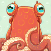 poulpette: cropped picture of an illustrated octopus (0)