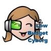 lowbudgetcyborg: a cartoon face and the words Low Budget Cyborg (Default)