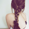 abstract: (Girl with braid)