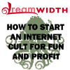 """dwrocks: """"Dreamwidth: How to start an internet cult for fon and profit."""" Cthulu logo with d-swirl tentacles. (cthulu)"""