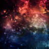 across_space_and_time: A nebula shifting in rainbow hues from red to blue (Rainbow Galaxy)