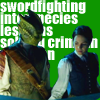 "firefly124: vastra and jenny with a backdrop of text saying ""badass sword-wielding victorian crime-solving lesbians"" (vastra7 by dawn_queen)"