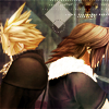 anaraine: Cloud and Leon from Kingdom Hearts standing back to back. ([kh] stand at my back)
