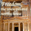 holyschist_reads: Photo of Petra with the words 'Freedom, the seven-pillared worthy house' (historical fiction)