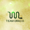 "musyc: Image of green snake on parchment background, caption ""Team Draco"" (Slytherin: Team Draco)"