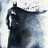 misbegotten: Batman watercolor from blule.fr (DC Dark Knight)